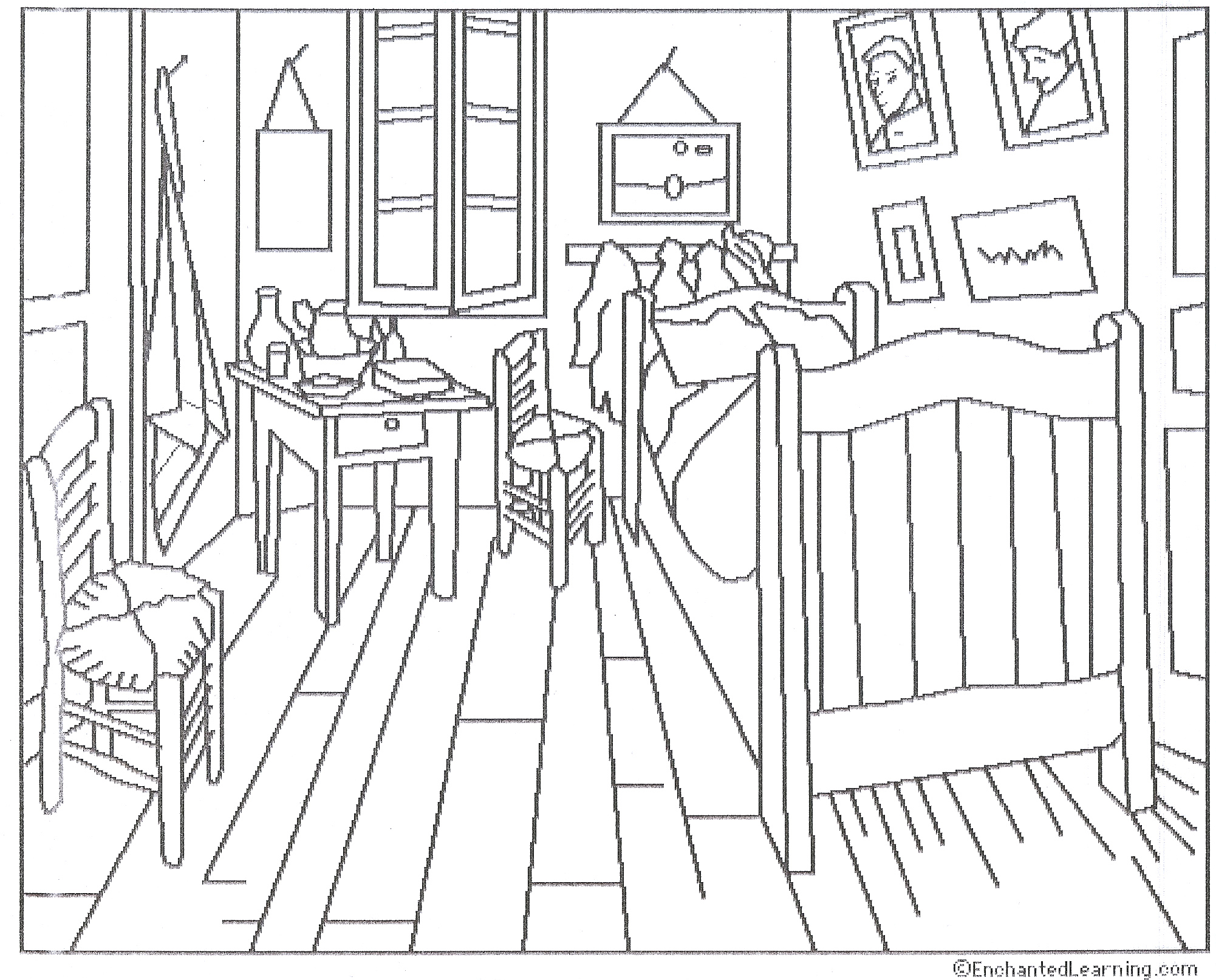 Image Result For Bedroom Coloring Pages